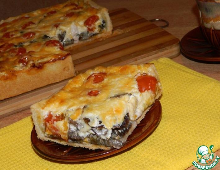 Рецепт: Пирог с курицей и грибами