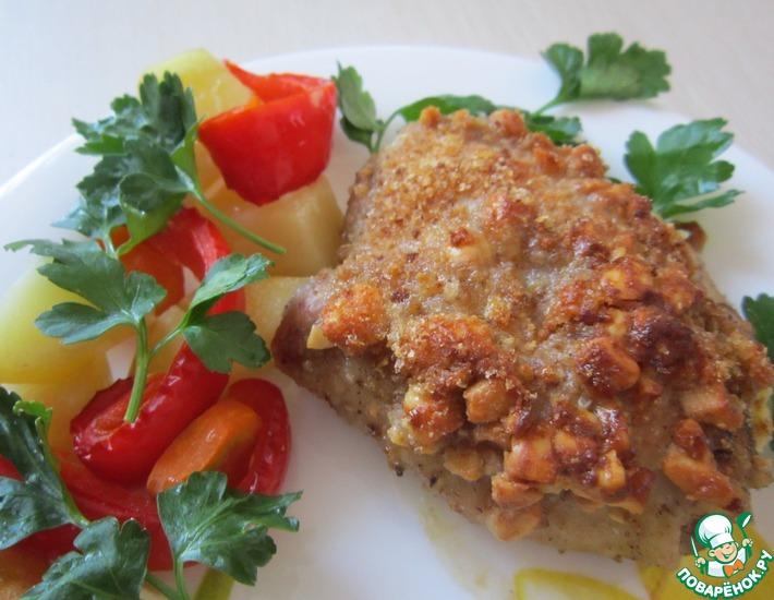 Рецепт: Курочка в орехово-сливочной панировке