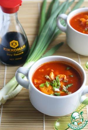 Рецепт Быстрый китайский томатный суп с яйцом