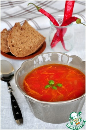Рецепт Куриный суп с чечевицей по мотивам Шороба Адас