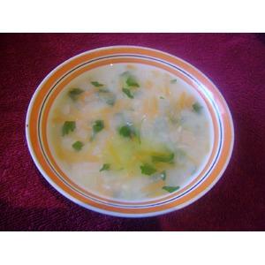 Пшенный суп с чесноком
