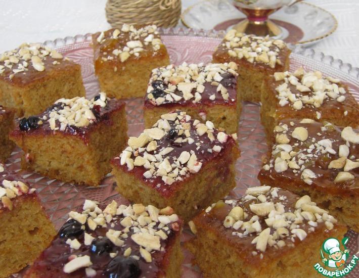 Рецепт: Пирожное с орехами