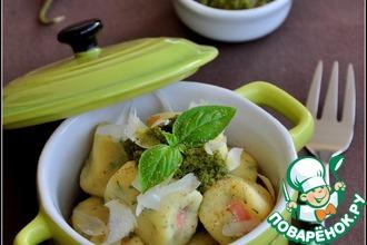 Рецепт: Картофельные ньокки с лососем и пармезаном