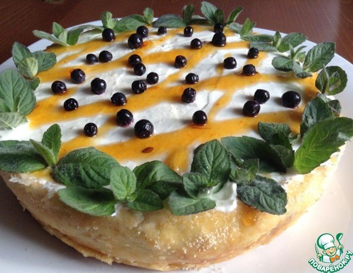 Рецепт: Творожная запеканка с манго и грушей