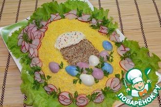 Рецепт: Салат с крабовыми