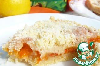 Рецепт: Пирог с абрикосами и цедрой лимона