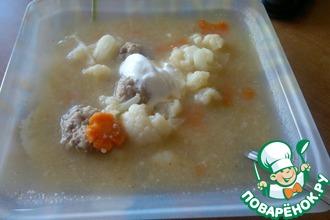 Рецепт: Овощной суп Цветной