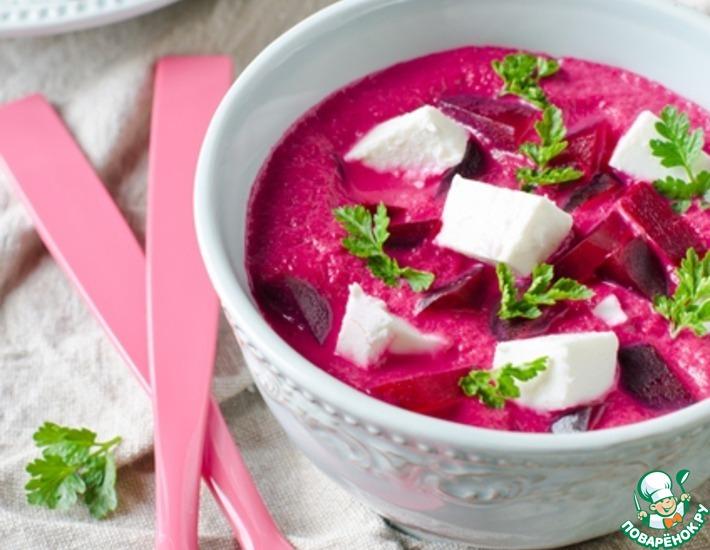 Рецепт: Свекольный крем-суп с фетой