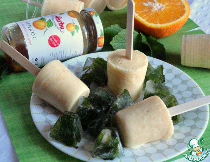 Рецепт: Апельсиново-абрикосовое мороженое