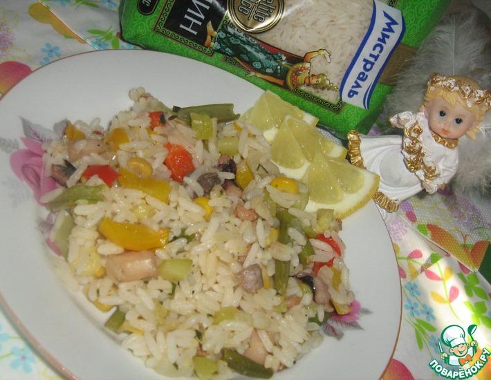 Рецепт: Паэлья с морепродуктами постная