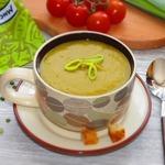 Постный суп-пюре из зеленого гороха