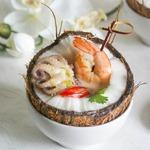 Кокосовый суп с креветками по тайским мотивам