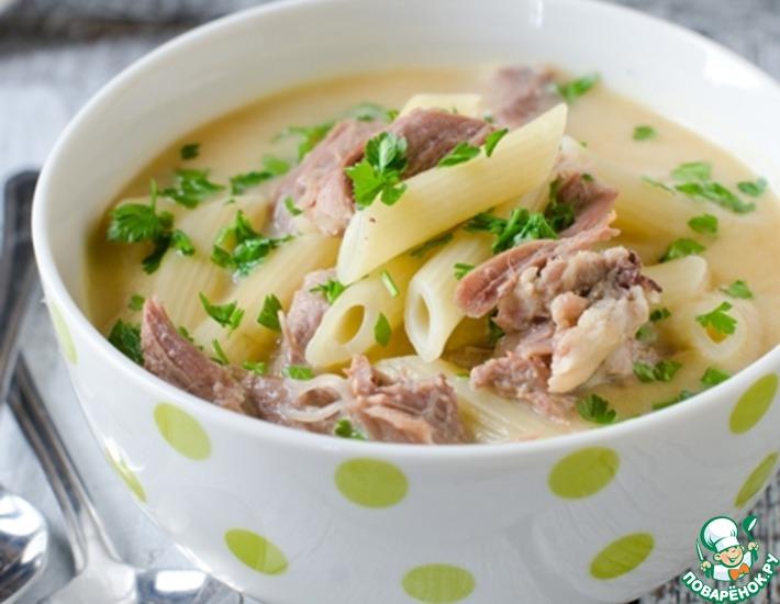 Рецепт: Куриный крем-суп с макаронами