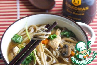 Рецепт: Супербульон и простой гречневый суп на нем