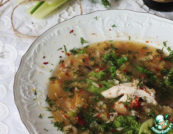 Рецепт: Греческий куриный суп с лимоном