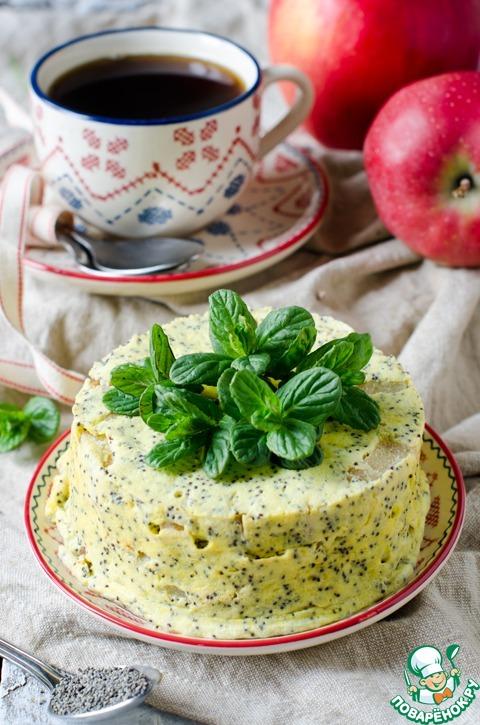 Творожная запеканка с маком и яблоками – кулинарный рецепт