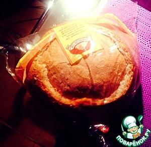 Бутерброд из круглого хлеба