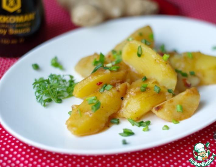 Рецепт: Картофель с чили и соевым соусом