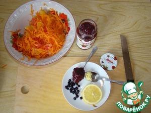 """Салат """"Оранжевый"""" с малиново-имбирной ноткой – кулинарный рецепт"""