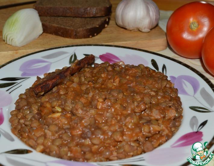 Рецепт: Чечевица по рецепту крестоносцев