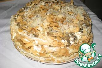Рецепт: Торт Грибной Наполеон
