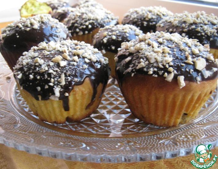 Рецепт: Кулич с шоколадной глазурью и орехами кешью