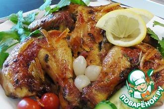 Рецепт: Кукурузный цыпленок в цитрусовом маринаде