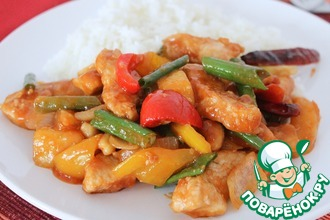 Рецепт: Курица в кисло-сладком соусе по-тайски