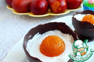 Рецепт: Пасхальный шоколадный десерт