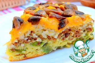 Рецепт: Многослойный заливной пирог