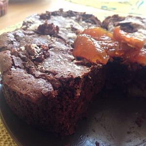 Рецепт Шоколадный бисквит с грушей