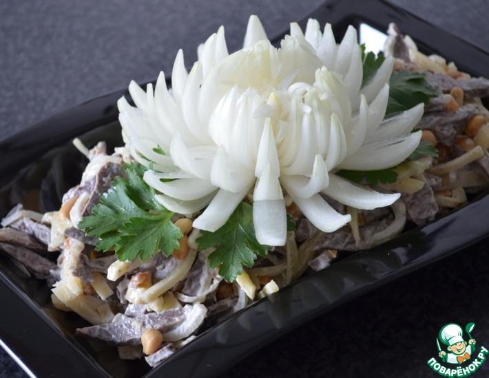 Рецепт: Салат из свиного сердца