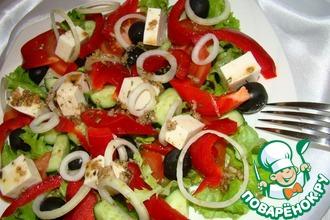 Рецепт: Салат Греческий с оригинальной заправкой