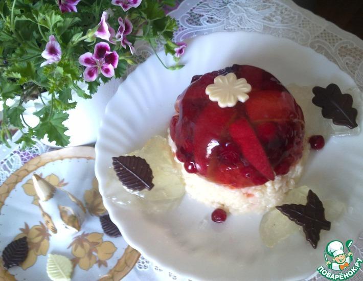 Рецепт: Десерт фруктово-ягодный с рисом