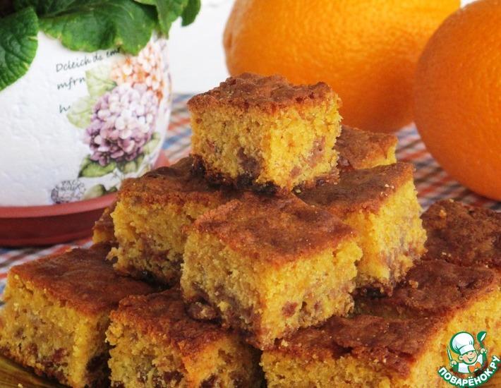 Рецепт: Сочный цитрусово-изюмный пирог