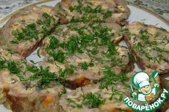 Рецепт: Мясной рулет с сыром и грибами