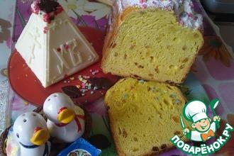 Рецепт: Пасхальный кулич заварной в хлебопечке