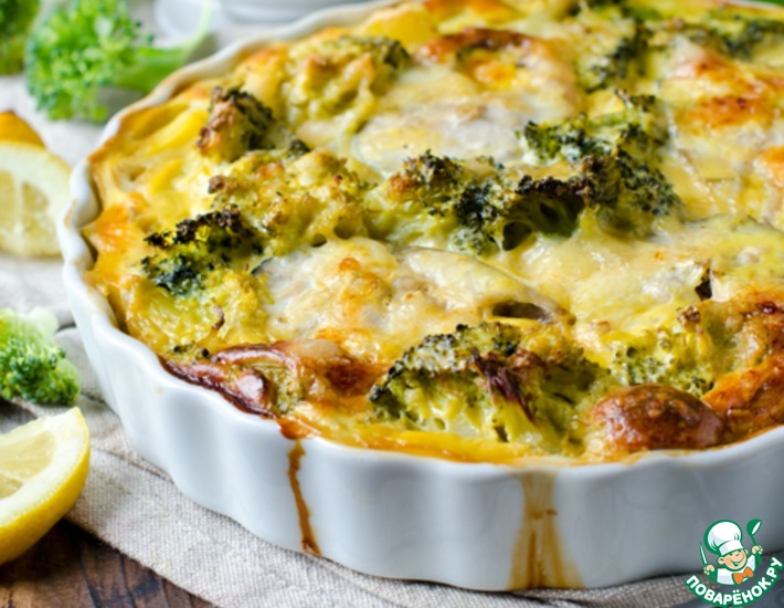 Запеканка с рыбой, картофелем и брокколи – кулинарный рецепт