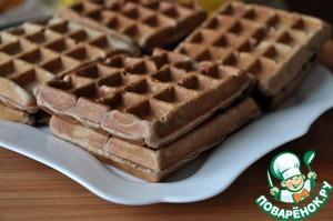 Шоколадные вафли с хлопьями – кулинарный рецепт