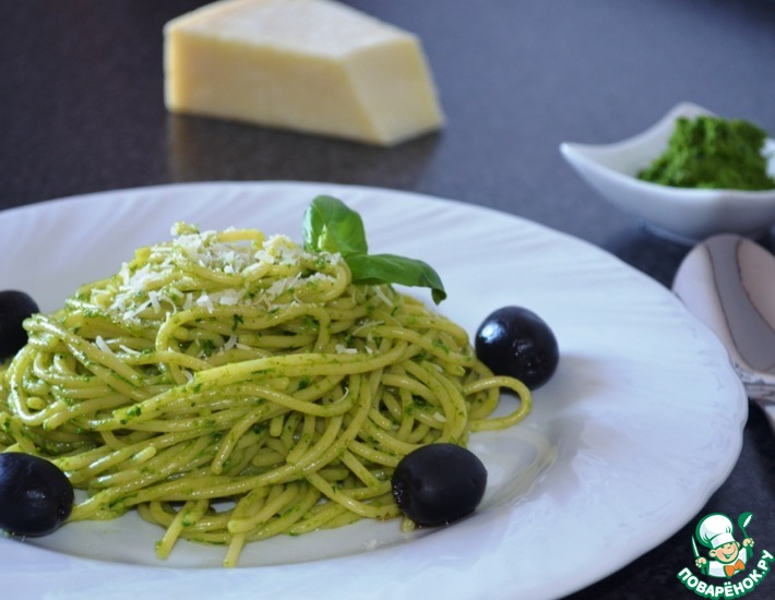 Рецепт: Песто из зелени и пармезана