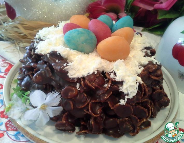Рецепт: Пасхальный торт-гнездо