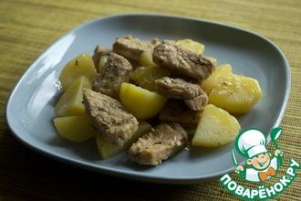 Рецепт: Свинина с травами в скороварке