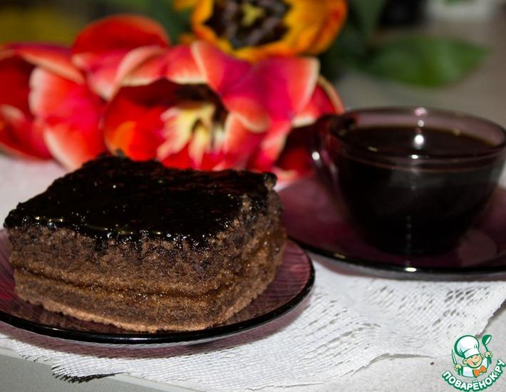 Рецепт: Пирожное Ночка
