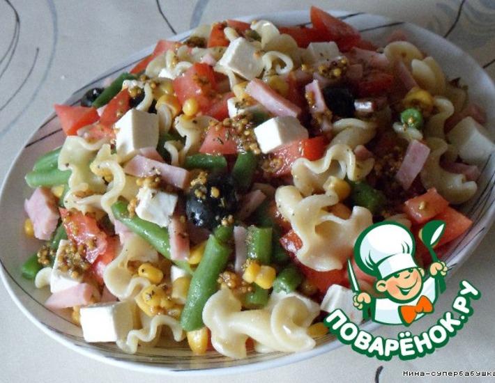 Рецепт: Салат с макаронами