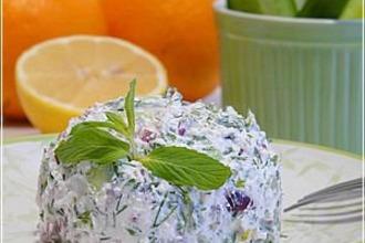 Рецепт: Египетский салат с фетой и мятой