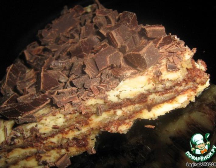 Рецепт: Ледяной миндальный торт-Semifreddo