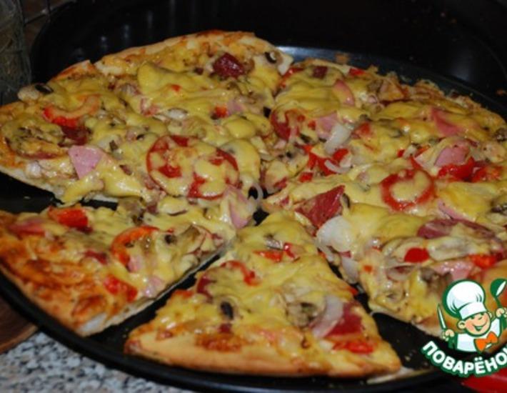 Начинка для пиццы рецепты курица с ананасами