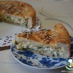 Творожный пирог с сыром и яйцами