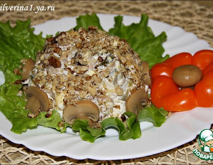 Рецепт: Салат с мясом и грибами