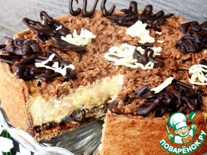Caramel cheesecake with prunes